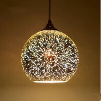 30cm 3D Colored Ball Ceiling Light Fixture E27 Pendant Lamp Lighting Chandelier