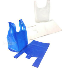 More details for plastic carrier bags strong & medium vest  supermarket  takeaway [all sizes]