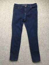 Ladies NEXT Skinny Jeans Size 12 Dark Blue Denim Pockets Cotton Blend
