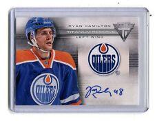 2013-14 Panini Ryan Hamilton Titanium Reserve Oilers #TR-RH Autographed jh10