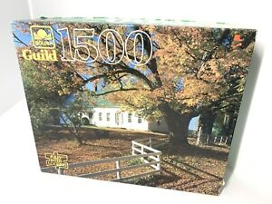 Vtg Golden Guild 1500 Piece Jigsaw Puzzle A Fall Day