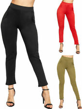 Straight Leg Casual Stretch Pants for Women