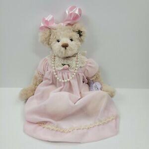 Annette Funicello Collectible Bear Co. Plush Bear Pink Chiffon & Lace Dress