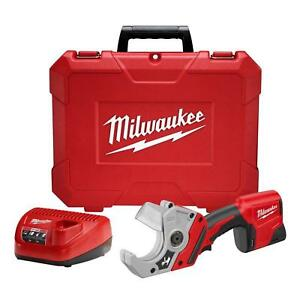 Milwaukee Electric Cordless PVC Pipe Cutter Tool Lithium-Ion PVC Shear Kit Red