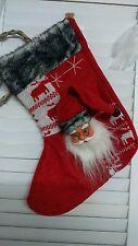 Deko-Socke *Schnee* Weihnachtsstrumpf * Nikolausstrumpf *  Shabby Chic Nikolaus