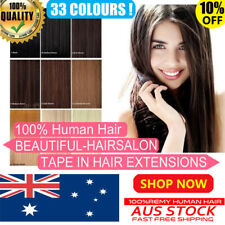 "16""-20"" 6A Premium TAPE IN 100% Remy Human Hair Extensions Seamless Skin Weft AU"
