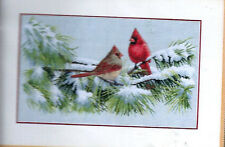 """""""WINTER CARDINALS"""" - Counted Cross Stitch Kit by DIMENSIONS, Art by Marc Hanson"""