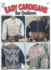 EASY CARDIGANS for QUILTERS 8 Sweatshirt Jackets HWB #141075 Quilt Sew Leaflet