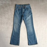 Womens LEVIS 525 Jeans High rise Bootcut Flared Mid blue Denim Size 8 W28 L30