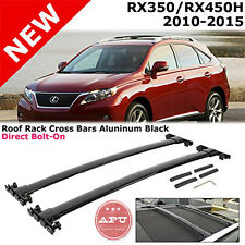 APU 2010-2015 Lexus RX350 RX450H OE STYLE Black Roof Rack Cross Bar -SET