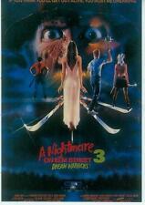 A Nightmare On Elmstreet Postcard: Film 3 Poster repro (USA, 1990)
