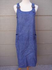 Blue J Women Denim Jumper Shift Dress Sz S Blue Floral Jean Shoulder Buckle FLAW