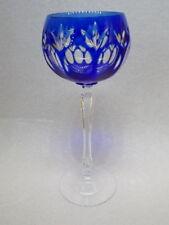 WMF Cristal Cabinet Römer Weinglas Bleikristall Überfang Blau H21cm