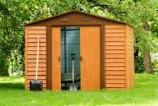 New Colourbond  Garden Shed TIMBER STYLE (L) 2374 x (W) 2357 x (H) 2087 mm
