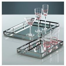 Shiraleah Stainless Steel Mirror Tray, Small