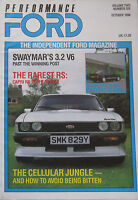 Performance Ford magazine 10/1988 featuring Capri RS 2800 T