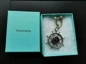 Tiffany & Co Silver Compass Keychain solid silver 925