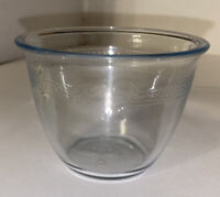 "Vintage Fire-King Sapphire Blue  4"" Custard Cup W/Philbe Design"