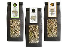 Rohkaffee - Grüner Kaffee Kenia, Indien, Brasilien (grüne Kaffeebohnen 3x500g)