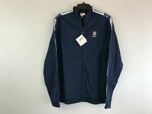 Men's Reebok Classic Zip Up Logo Track Jacket, Size M - Navy/Multi