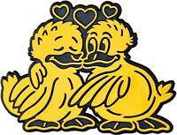 Auto 3D Relief Schild zwei verliebte Enten GELB Ente Aufkleber HR Art. 48925