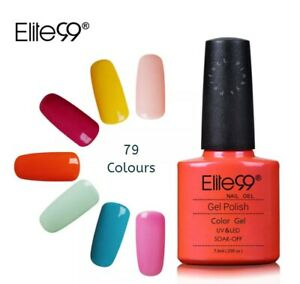 Elite99 Nail Gel Polish LED UV Soak-Off Colours Base & Top Coat Top Quality UK!
