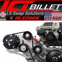 LSA Supercharger High Mount A/C Sanden 508 709 Compressor Bracket Kit CTS-V ZL1