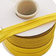 "7/8"" (20 mm) Metallic Gold Single Fold Polyester Bias Tape - 100 Yards Roll"