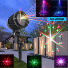 RGB Full Color 20 Patterns Waterproof Outdoor DJ Event Decor Laser Projector