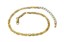 """Bride Hearts link chain Anklet/ 10"""" + 2 inch chain extender Real 18k Gold Filled"""