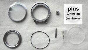 Uhren-Gehäuse für Unitas 6497/6498 f. Profis neutrales Zifferblatt wählbar 20014