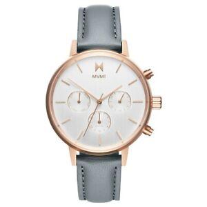 MVMT Nova Golden Ladies Watch Wristwatch Leather FC01-RGGR