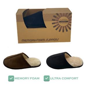 Mens Memory Foam Slippers in Box