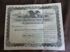 Paradise Valley Ditch & Irrigation Co. Chinook Montana 1904 Stock Certificate