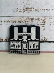 Lulu Guinness Wonen's Black Polyester Small Pouch - Defective   Box(81)