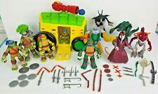 Teenage Mutant Ninja Turtles Lot 43 Pieces 10 Figures 33 Weapons With Weapon Van