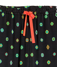 NWT KENZO x H&M LADIES PATTERNED SILK PANTS Size US 12/ UK 16/ IT 48