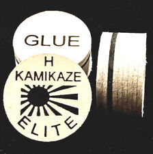 NEW....Kamikaze ELITE Layered Cue Tips  14 MM  (HARD) (2 Tips)  Fast Shipping.