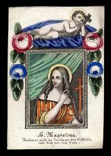 santino incisione 1800 S.MARIA MADDALENA  dip.a mano