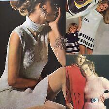 1967 Vogue Knitting Polo A Line Dress Star Trek Tunic Lace Chunky Ribbed Pattern