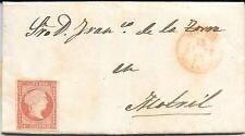 España. Carta circulada con sellos de 4 ctos nuevo. Edifil nº 44*