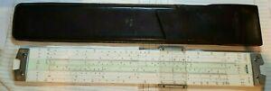 Vintage 1960's Nestler 0291 Polymath-Duplex Slide Rule In Original Leather Case