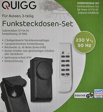 3 tlg. Außen-Funksteckdosen-Set, Funksteckdose IP44 / NEU!