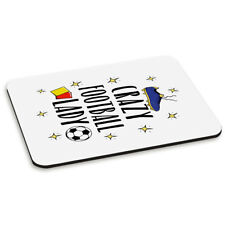 Crazy Football Lady PC Computer Mouse Mat Pad - Funny Soccer Sport