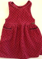 Osh Kosh Vintage Courdory Romper Overall Dress Red With Blue Stars