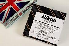 NIKON OCULAIRE Correction Lentille Dioptrie -2 pour FE FE2 FM FM2 FM3 FM3/T FA Caméra
