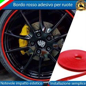 CONTORNO ROSSO BORDO CERCHI IN LEGA ADESIVO AUDI A1 A2 A3 8L A3 8P A3 8V RUOTE