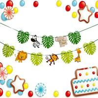 Hanging Buntings Decor Shower Banner Birthday Jungle Party Paper 3M Baby Cartoon