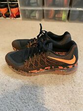 reputable site 8e109 4b8f7 NIKE MEN AIR MAX 2015 Black Orange Sz 13