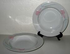 MIKASA Serenade Pink Rimmed Soup bowl Set of 4 Mint